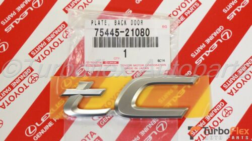 Scion tC 2005-2010 tC Rear Trunk Emblem  Genuine OEM 75445-21080