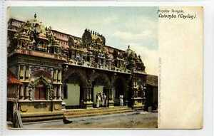 Gq709-407-Hindoo-Temple-Colombo-Ceylon-Sri-Lanka-1925-Used-VG