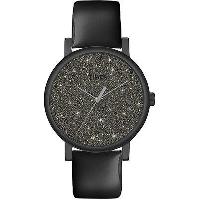 Timex Women's Modern Originals | Black Patent Leather Starburst Dial | T2P280