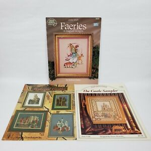 American-School-of-Needlework-Cross-Stitch-Patterns-Book-Lot-Castles-Faeries