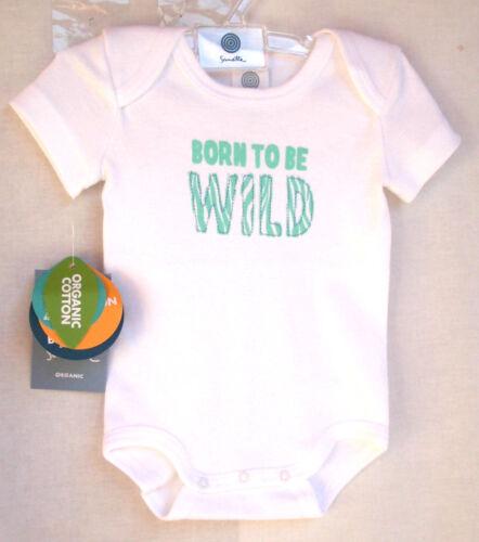 """56-86  UVP 9,95 € SANETTA Baby Body 1//2 Arm weiß  /"""" WILD/""""  Gr"""