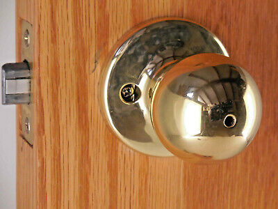 Kwikset Polo Entry Knob Double Cylinder Deadbolt Polished Brass 695P3 #798