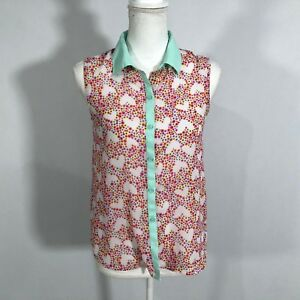 2c305b453d851 Image is loading Faded-Glory-Women-Sleeveless-Blouse-Button-Down-Shirt-