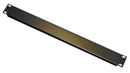 1U Rack Panel Folded Blank 19 inch Rackmount Panel powder coated Black