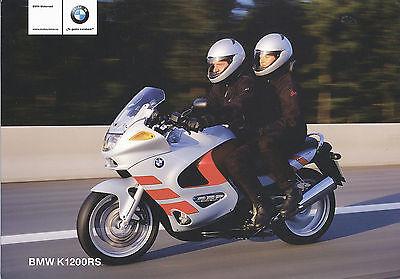 Bmw K 1200 Rs Prospekt Span 1997 Brochure Motorcycle Prospectus Brosjyre Moto Den Speichel Auffrischen Und Bereichern