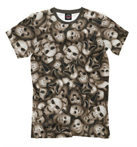 Early Y2K Saw movie promo T shirt horror Michael myers jason Black Unisex S-3XL