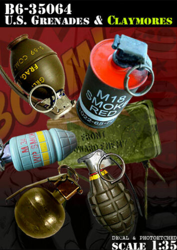 1//35 Scale Resin Kit US Grenades Claymores includes Photoetched parts + decals