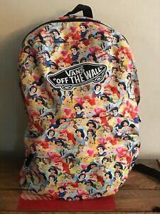 Vans Disney Princesses Backpack rucksack  Good Condition