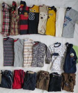 62304f35b Baby GAP Gymboree Old Navy Boys LS Shirts Pants PJs 21 Piece Lot ...