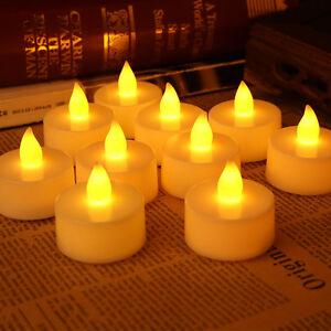 24pcs flameless led tea light candles battery powered unscented led fake candle ebay. Black Bedroom Furniture Sets. Home Design Ideas