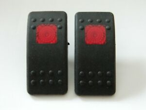 Carling Boat Rocker Switch Actuator CoverRed Plastic HORN
