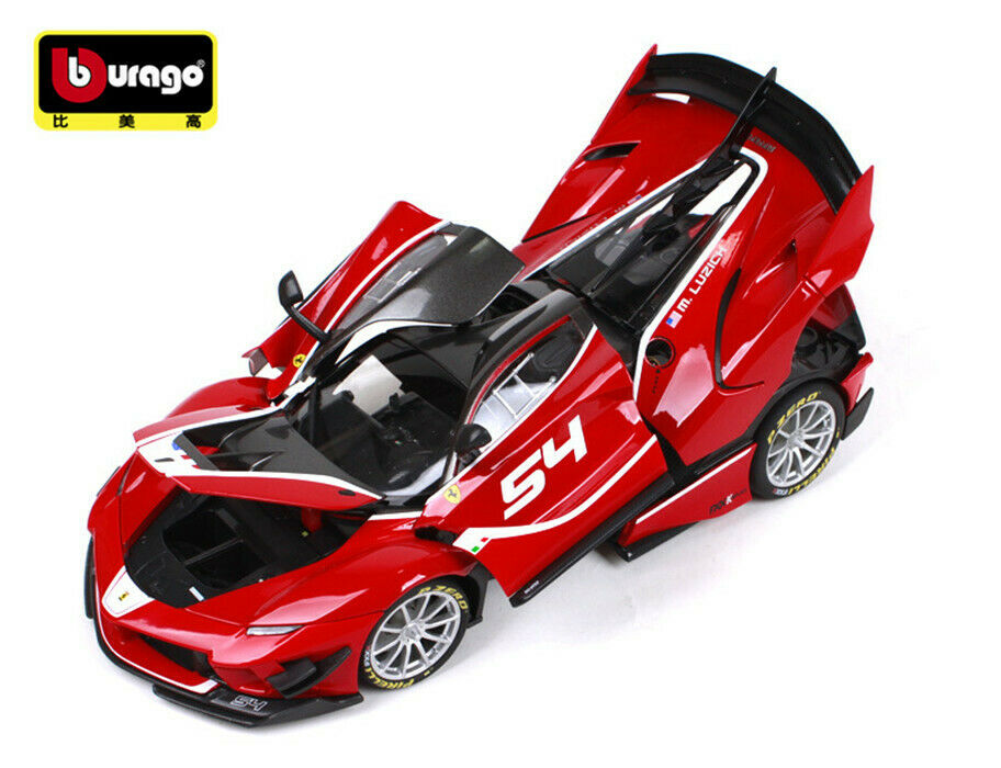 Bburago 1 18 Alloy Ferrari FXXK EVO 54  rouge Cars Diecast Vehicles Toys Kid Gifts