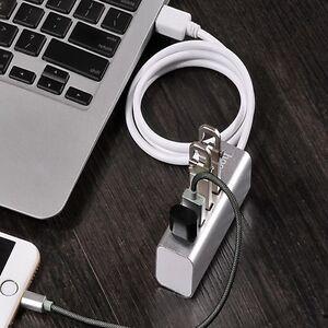 f43d6610c3f 4 Port Aluminum USB 2.0 HUB Splitter High Speed For PC Laptop Mac ...