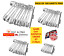miniature 2 - Safety Pins 100Pcs Needles silver Assorted Small Medium Large Sewing Craft aid