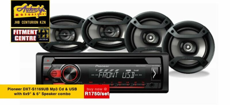 Pioneer DXT-S1169UB Mp3 Cd Front Loader with 6-9 and 6 INCH  Speaker combo  Autostyle Motorsport now