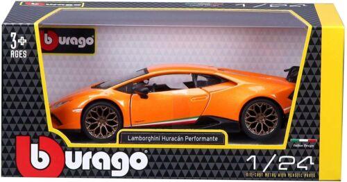 orange, Maßstab 1:24 Modellauto Auto Bburago Lamborghini Huracan Performante