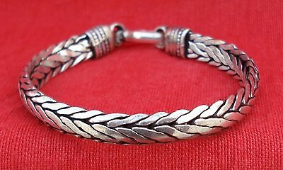 TRADITIONAL DESIGN HANDMADE SILVER CUFF BRACELET BANGLE