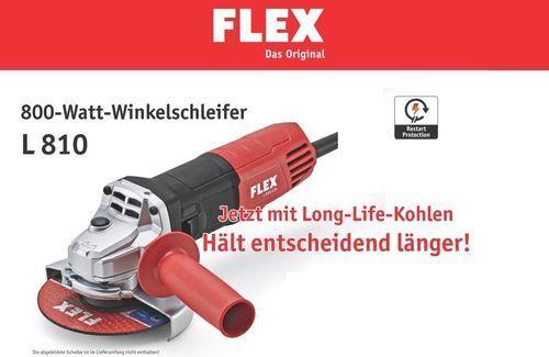 Flex L 810 Winkelschleifer 800 Watt, 125 mm + 5x Trennscheiben 125x1,0mm Stahl