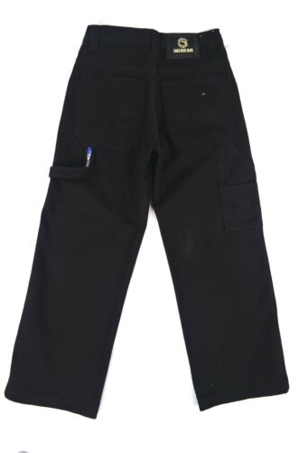 Boy/'s Eagle blue jeans Carpenter relaxed straight Black 100/% Cotton Solid 8-16
