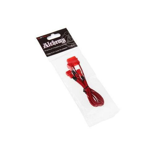 BFA-MSC-M33F7VRR-RP BitFenix Alchemy Molex to 3x 3-Pin 7V Adapter 20cm red/red
