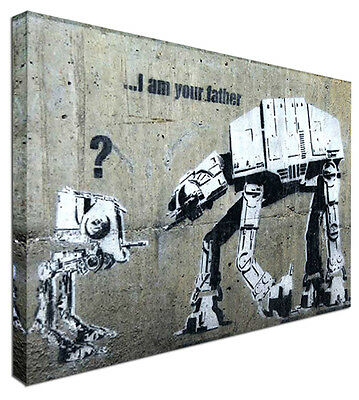Canvas Art Picture *Choose your size BANKSY I am your father STAR WARS