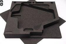 2HE Inlay für 2x Shure Antenne UA874 oder UA870; Schaumstoffeinlage; foam inlay