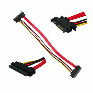 New-7-15-PIN-22P-Serial-ATA-SATA-Male-to-Female-Data-Power-Extension-Cable
