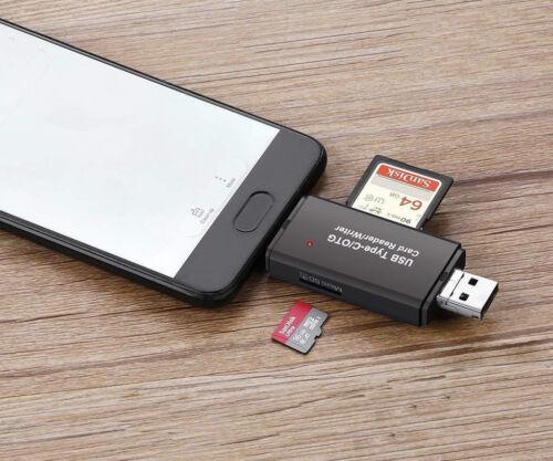 Micro USB Tipo C OTG Lector de Tarjetas SD TF Micro SD Para Huawei P30 Lite Nova 5T au