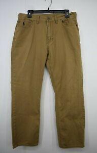 Polo Ralph Lauren Men Straight Leg Comfort Fit Cotton 5-Pocket Denim Jeans 35/30