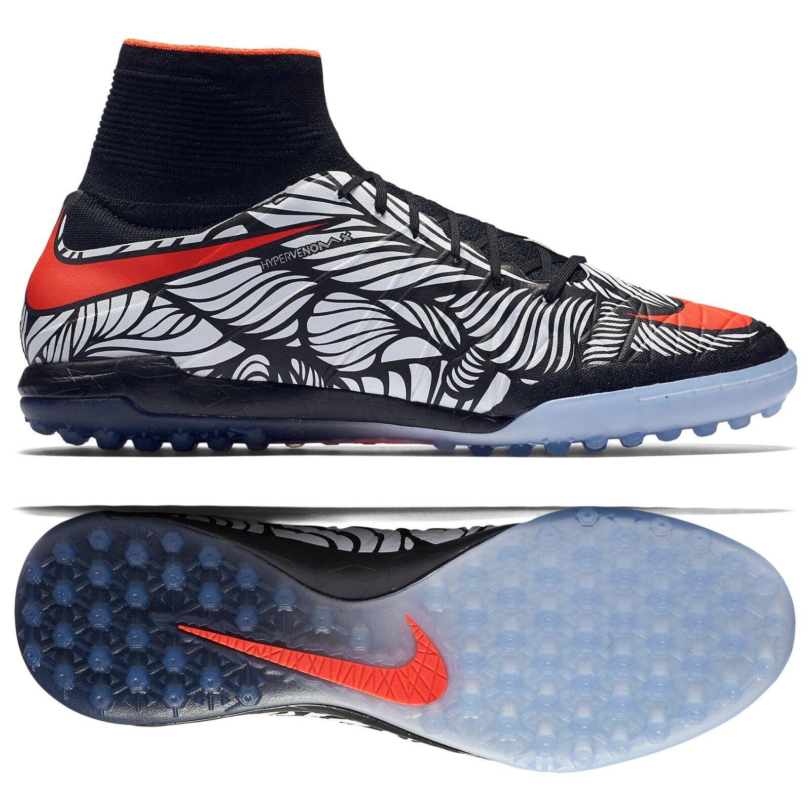 Nike HypervenomX Proximo Neymar NJR TF 820134-061 Black Men Soccer Cleats Sz 11