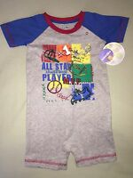 Babies R Us Boys Romper One Piece Infant Sz 18 Months All Star