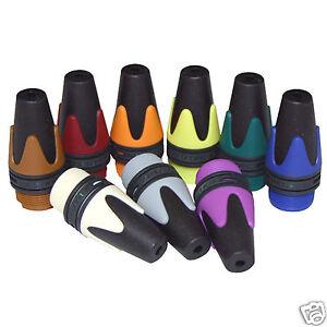 2-x-Neutrik-farbiger-XLR-Stiefel-XX-Serie-BXX-kennzeichnung-farbcodiert-Buchse