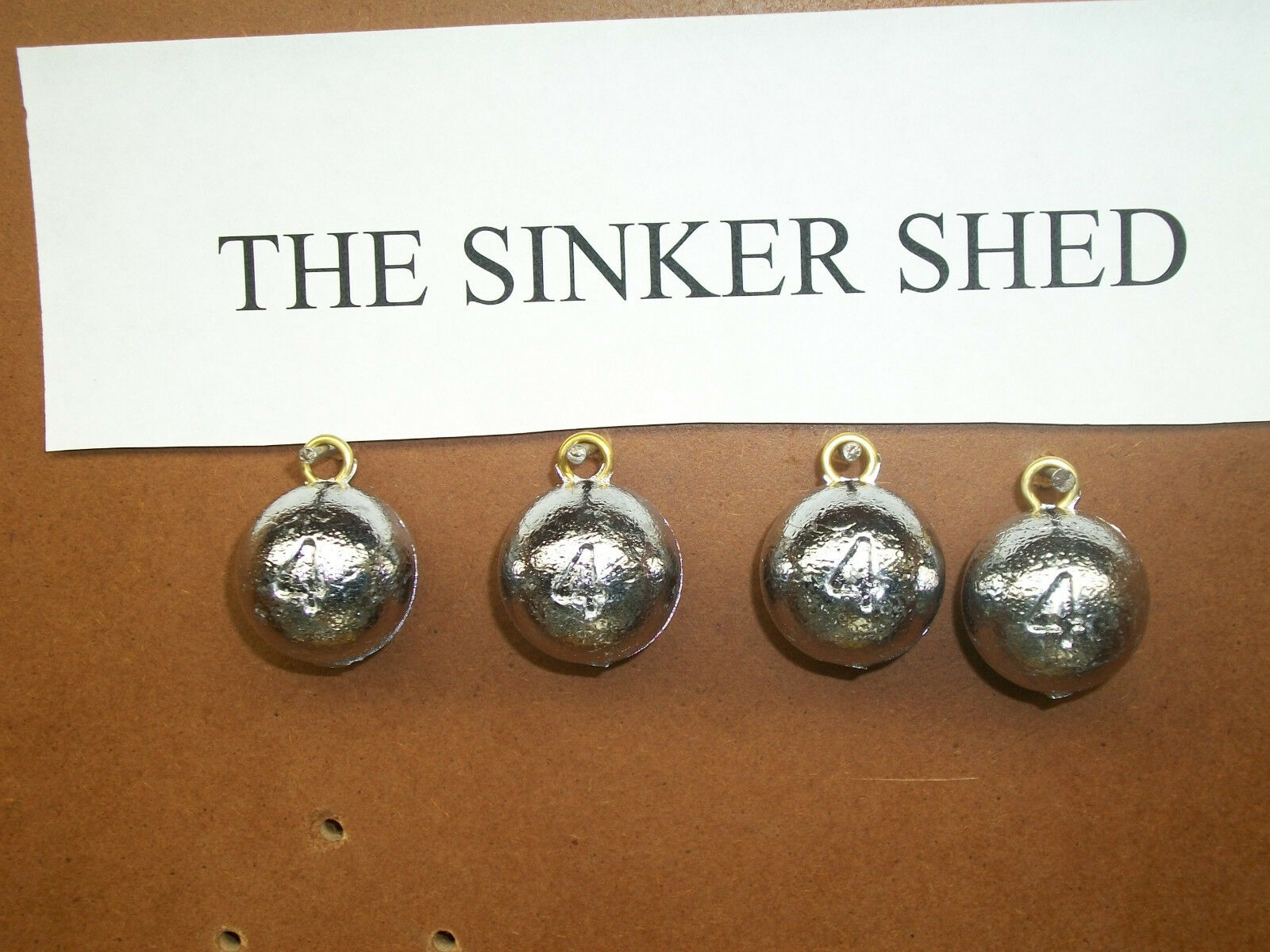 4 oz cannon ball sinkers - choose quantity 12 25 50 100 200 - FREE SHIPPING