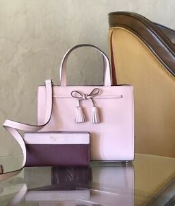 NWT-Kate-Spade-Hayes-Small-leather-Satchel-rosy-cheeks-wallet-Options-Pink