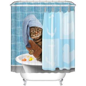 Funny Kitten Cat Bathroom Shower