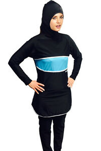 Image is loading Al-Nafees-Modesty-Full-Cover-Ladies-Muslims-Swim-  sc 1 st  eBay & Al-Nafees Modesty Full Cover Ladies Muslims Swim Suit Islamic ...