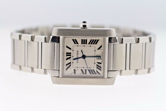 8a432f9fe84 Cartier 2302 Tank Francaise Large 28x32mm Stainless Steel Automatic Unisex  Watch