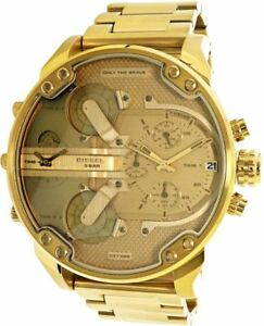 4e7623819f8e Mens Diesel DZ7399 Mr Daddy 2.0 All Gold Chronograph Watch RRP £399 ...