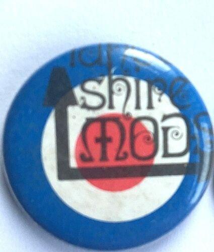 MOD TARGET Old OG Vtg 1980`s Button Pin Badge NOT skin punk LANCASHIRE MODS