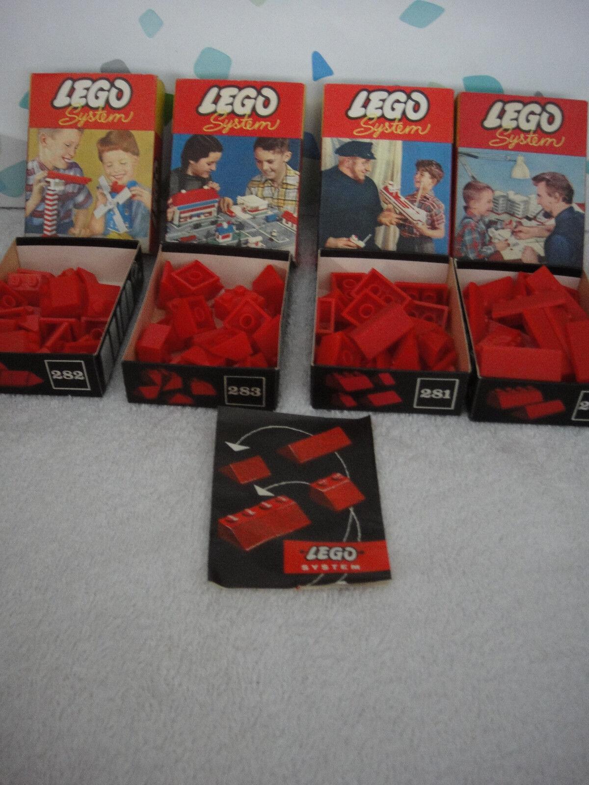 LEGO System Set Nr. 280 281 282 283 + ovp rote dachziegel