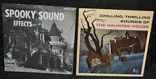 Spooky Sound Effects & Haunted House Soundtrack Vinyl LP Record lot of 2 - WH