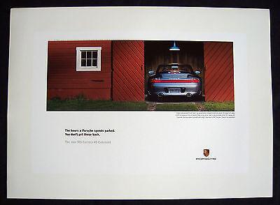 PORSCHE OFFICIAL 911 996 CARRERA POSTER SET OF THREE 2003 SMALL EDITION