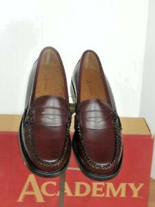 Burgundy-Penny-Loafer-by-Academy-leather-wms-sz-7-11-NIB