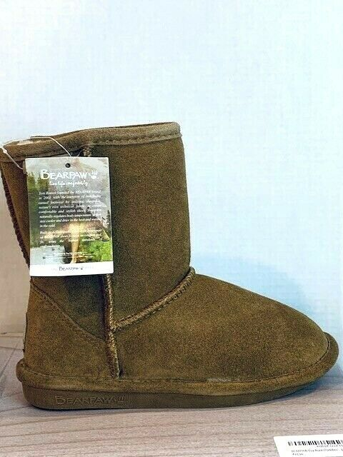 Kids Bearpaw Rosie Fashion Youth Boot 1653Y Hickory II Suede 100/% Authentic New