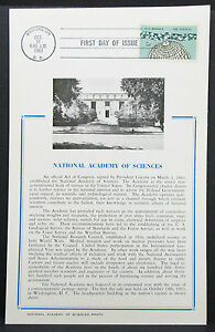 First-Day-of-Issue-FDC-National-Academy-of-Sciences-USA-Ersttagspost-H-7352