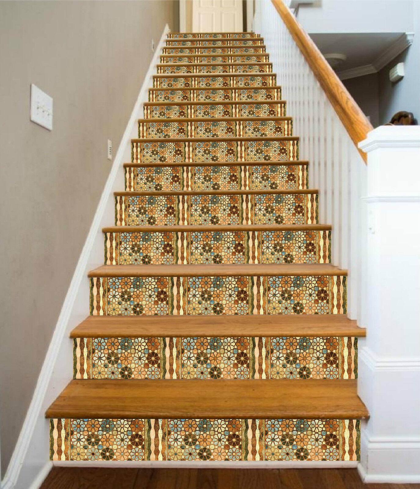 3D Blaumen 552 Stair Riser Dekoration Fototapete Vinyl Aufkleber Tapete DE Lemon