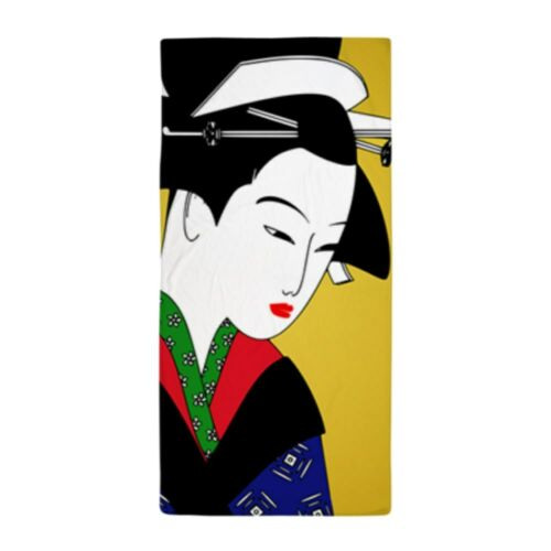 1544754059 CafePress Japanese Geisha Girl Art Beach Towel