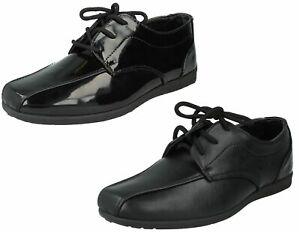 Boys N1110 Black Lace Up School Shoes By Jcdees Retail Price £9.99