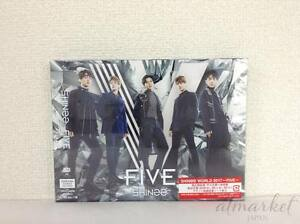 Shinee-Five-First-Edicion-Limitada-Tipo-B-CD-DVD-Foto-Folleto-Tarjeta-Japan-de-F