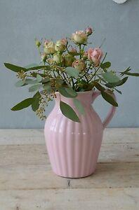 Mynte-Krug-Kanne-Vase-Milchkrug-rosa-Keramik-engl-Rose-IB-Laursen